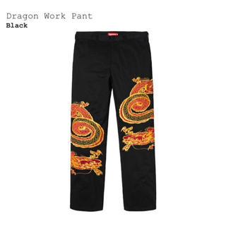 シュプリーム(Supreme)の新品 黒30 supreme dragon work pant(ワークパンツ/カーゴパンツ)