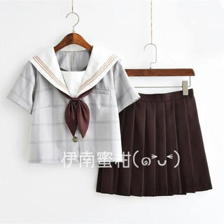 【C】コスプレ制服★セーラー服(上下セット)半袖(セット/コーデ)