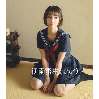 【H】コスプレ制服★セーラー服(上下セット)半袖(セット/コーデ)