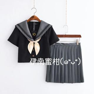 【L】コスプレ制服★セーラー服(上下セット)半袖(セット/コーデ)