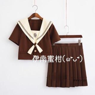 【M】コスプレ制服★セーラー服(上下セット)半袖(セット/コーデ)
