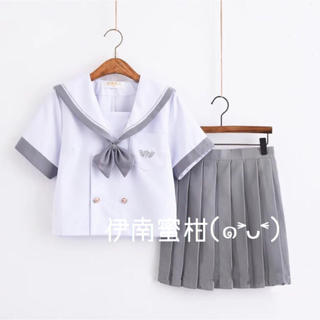【O】コスプレ制服★セーラー服(上下セット)半袖(セット/コーデ)