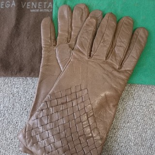 ボッテガヴェネタ(Bottega Veneta)のボッテガ・ヴェネタ レザーグローブ(手袋)