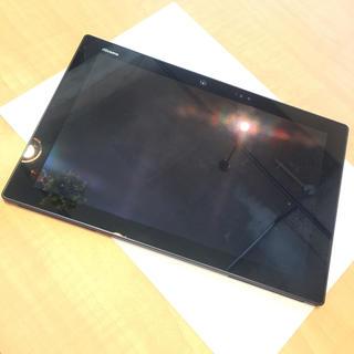 エヌティティドコモ(NTTdocomo)の即購入OK! 美品 docomo タブレット F-04H ブラック 黒 本体のみ(タブレット)