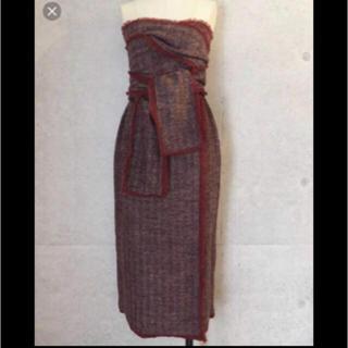 TAN 巻きスカート ラップスカート レッド