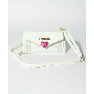 ラブトキシック(lovetoxic)のラブトキシック ショルダーストラップ付きラブレター財布(ホワイト)(財布)