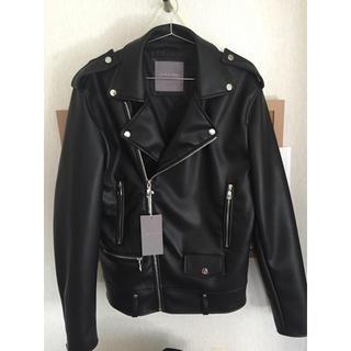 ザラ(ZARA)のZARA サンローランL01型 ライダースジャケット 新品タグ 付き(ライダースジャケット)