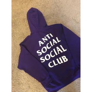 アンチ(ANTI)の本物美品ANTI  SOCIAL  SOCIAL  CLUBパーカーパープル(パーカー)