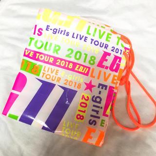 イーガールズ(E-girls)のE-girls live tour 2018 ビニールバッグ(ミュージシャン)