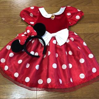 ディズニー(Disney)のミニー ドレス  2〜3歳用  カチューシャ付き(ドレス/フォーマル)