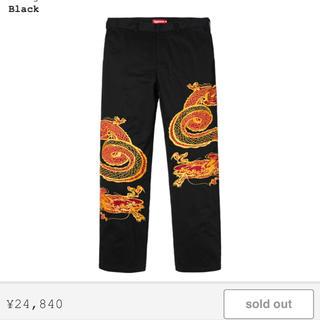 シュプリーム(Supreme)の 32 dragon work pants supreme(ワークパンツ/カーゴパンツ)