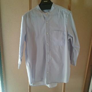 ブラウニー(BROWNY)の水色七分袖シャツ(Tシャツ/カットソー(七分/長袖))