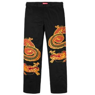 シュプリーム(Supreme)のSupreme Dragon Work Pant black 30インチ(ワークパンツ/カーゴパンツ)