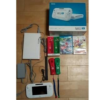 ウィーユー(Wii U)のニンテンドー WiiU 本体(付属品あり)(家庭用ゲーム本体)