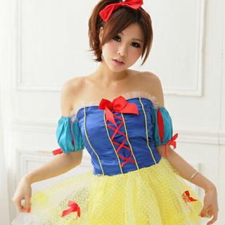 ディズニー(Disney)の白雪姫 お姫様ドレスコスチューム コスプレ ハロウィン衣装ドット柄パニエ(衣装)