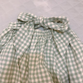 アドリー(ADREE)のチェックリボンスカート(ひざ丈スカート)