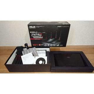 エイスース(ASUS)のASUS ゲーミング 無線LANルーター RT-AC88U(PC周辺機器)