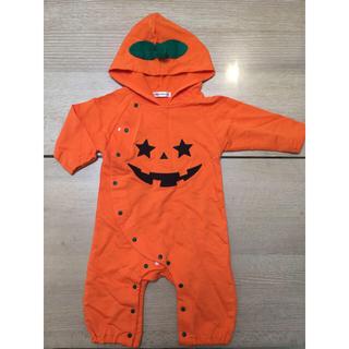 未使用☆ハロウィン かぼちゃロンパース80(ロンパース)