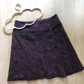 ロペ(ROPE)のロペ トール ツイードスカート EX-3(ひざ丈スカート)