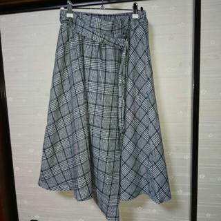 シマムラ(しまむら)のチェックスカート ミドル丈(ロングスカート)