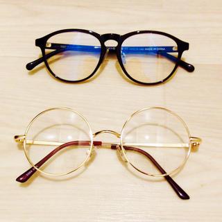 ムジルシリョウヒン(MUJI (無印良品))の伊達メガネ 2個セット(サングラス/メガネ)