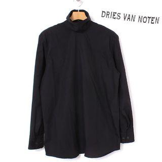 ドリスヴァンノッテン(DRIES VAN NOTEN)の17AW DRIES VAN NOTEN ハイネックシャツ 36 ブラック (シャツ/ブラウス(長袖/七分))