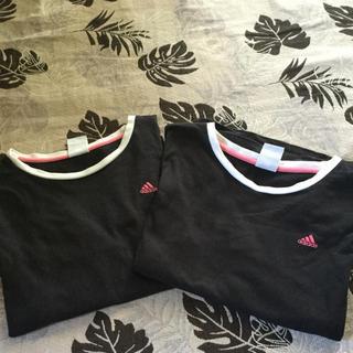 アディダス(adidas)の値下げ☆アディダス☆綿100% 長袖Tシャツ 2枚組 送料込(Tシャツ(長袖/七分))