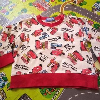 ディズニー(Disney)の男の子 トレーナー カーズ マックイーン総柄 90サイズ (Tシャツ/カットソー)