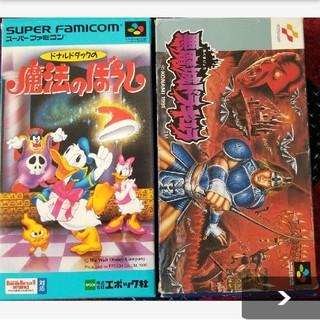 スーパーファミコン(スーパーファミコン)のドナルドダックの魔法のぼうし 悪魔城ドラキュラ(家庭用ゲームソフト)