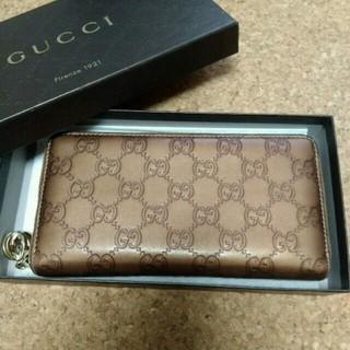 グッチ(Gucci)の【美品】GUCCI長財布ラウンドファスナー(長財布)
