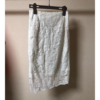 ジーユー(GU)のGU*レースタイトスカート(ひざ丈スカート)