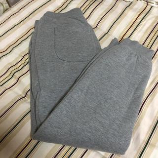 ジーユー(GU)のGU 裏起毛 ボア スウェット パンツ スウェットパンツ リブ グレー Sサイズ(その他)