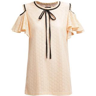 ハニーミーハニー(Honey mi Honey)のCold Shoulder Lace Volante Dress(ミニワンピース)