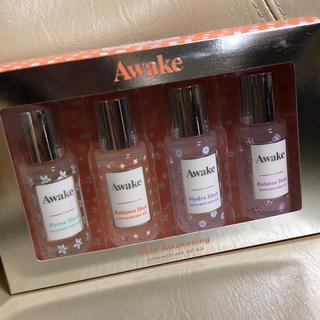 アウェイク(AWAKE)の【新品】Awake スキンケアウェイクニング コンセントレイトオイルキット(サンプル/トライアルキット)