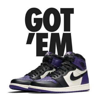 ナイキ(NIKE)の✴ 25 AIR JORDAN 1 RETRO HIGH OG  PURPLE(スニーカー)