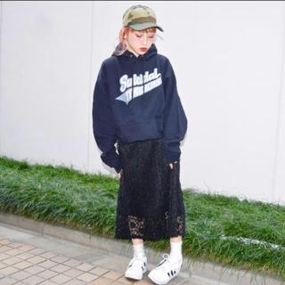 エーディージー(A.D.G)のaileron 総レーススカート(ロングスカート)