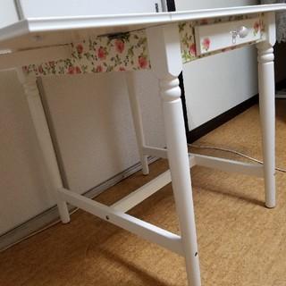 IKEAリメイク薔薇のゲートレッグテーブル