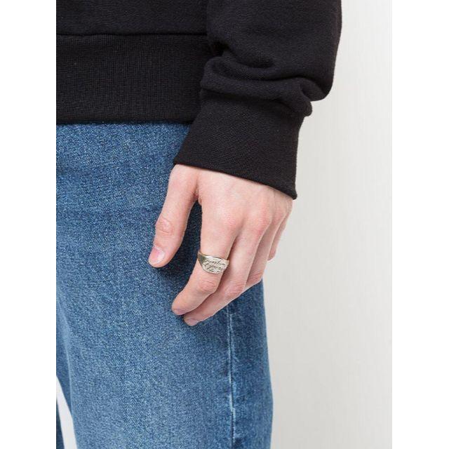 Ann Demeulemeester(アンドゥムルメステール)のワークスタットミュンヘン シルバーリング シグネット 詩 メンズのアクセサリー(リング(指輪))の商品写真