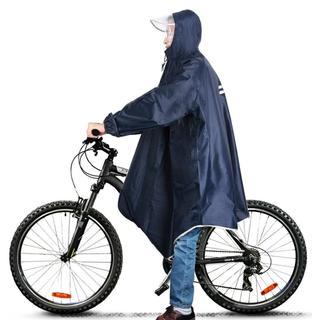 大人気☆レインコート 自転車 バイク ロング ポンチョ 男女兼用 フリーサイズ (その他)