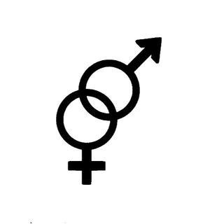 男女マーク 性別記号 カッティングステッカー 1