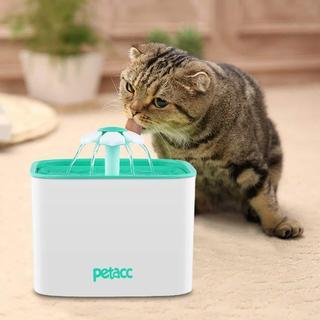 ペット給水器 静音 2L 大容量 留守番対応 フィルター付 犬 猫 循環式