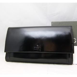 グッチ(Gucci)の☆未使用品!☆グッチ財布 三つ折り財布 パテントレザー ブラック(長財布)