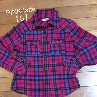 ピンクラテ(PINK-latte)のPINK-latte 【S】チェックシャツ(シャツ/ブラウス(半袖/袖なし))