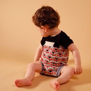キャラメルベビー&チャイルド(Caramel baby&child )の【新品】WOLF &RITA ウルフアンドリタ ウルフ&リタ ニット ロンパース(カバーオール)