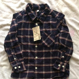 MUJI (無印良品) - チェックシャツ 新品 無印良品 110