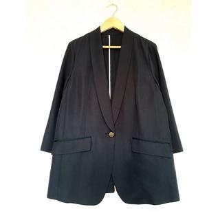 ヴァンドゥーオクトーブル(22 OCTOBRE)の22 OCTOBRE_ネイビーの七分袖テーラードジャケット(テーラードジャケット)