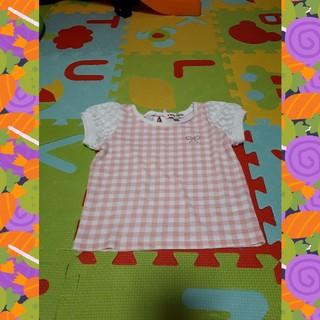 エニィファム(anyFAM)の♡エニィファム♡袖可愛い♡ピンクチェック♡100cm♡(Tシャツ/カットソー)