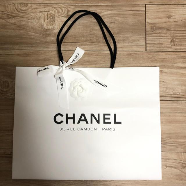 efb942d5b152 CHANEL(シャネル)のCHANEL 本店限定 ショッパー 紙袋 袋 バック カメリア付 大きいサイズ