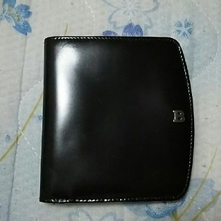 バリー(Bally)のバリー 2つ折り財布 焦げ茶色 マスコットベアー付 お値下げ‼(折り財布)