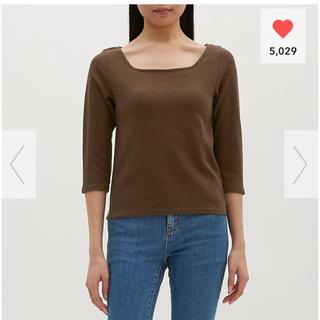 ジーユー(GU)の七分袖 Tシャツ(Tシャツ(長袖/七分))